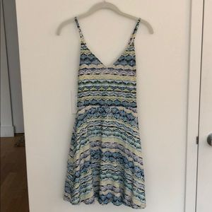 Sunny day sundress in white, blue, green, yellow